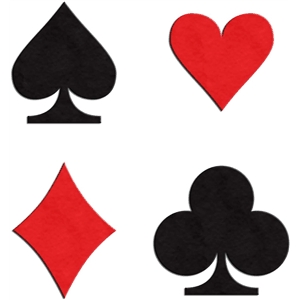 playing card suits - set of 4