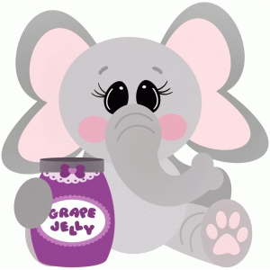 elephant with grape jelly jam