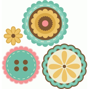 layered flowers set of 4