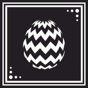 easter egg tile - chevron