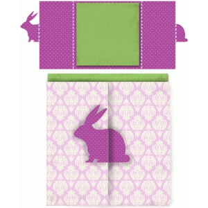 bunny square double folded card