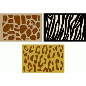 animal print journaling cards