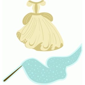 cinderella magic wand & dress