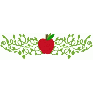 apple flourish horizontal