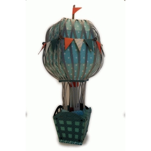 hot air balloon 3d large centerpiece