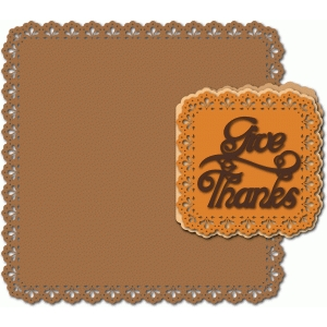 give thanks lace edge card and placemat