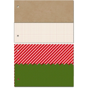 25 days of december 5 x 7 horizontal album pocket pages