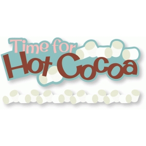 hot cocoa title and border