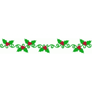 holly flourish border