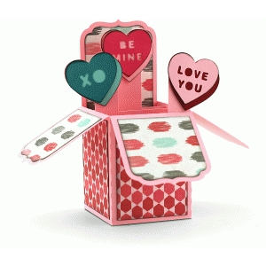 a2 valentine hearts box card