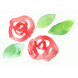 simple watercolor flowers