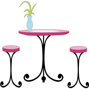 fancy table & stools