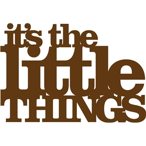 'it's the little things' phrase