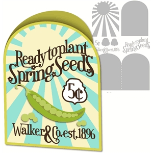 card spring seed packet