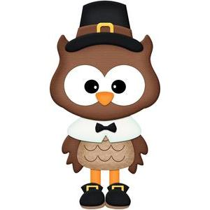 thanksgiving pilgrim owl