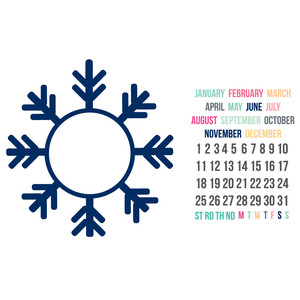snowflake build a calendar set