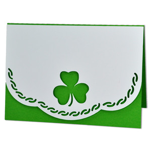 shamrock card with scalloped edge