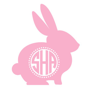 bunny rabbit monogram