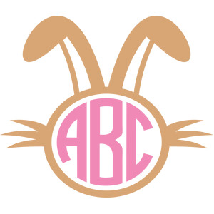 easter bunny monogram