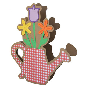 watering can flower card