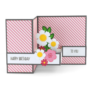 pop up box card birthday flowers