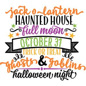halloween night word art