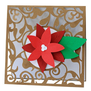 poinsettia flourish card