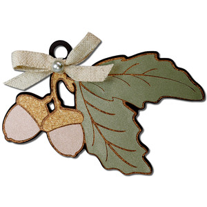 acorn ornament gift tag