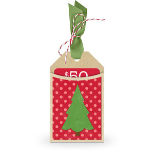 gift card holder tag christmas tree