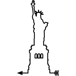 statue of liberty arrow