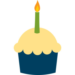 cupcake with candle