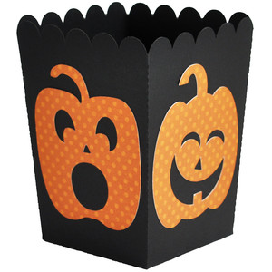 jack-o-lantern popcorn treat box