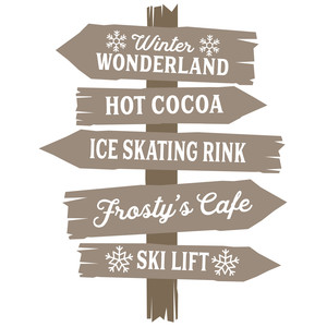 winter wonderland rustic sign
