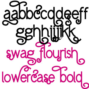 pn flourish swag lowercase bold