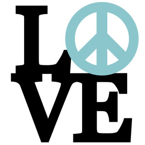 stacked love - peace phrase