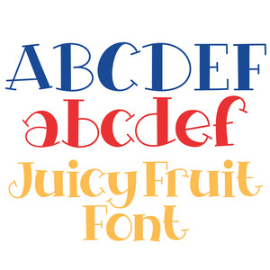 juicy fruit font