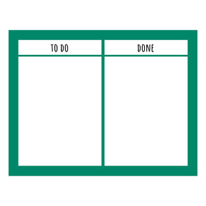to do/ done chore chart