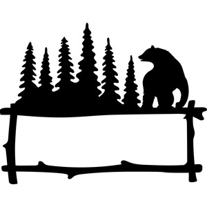 bear forest frame