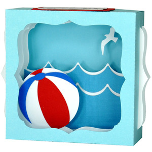 beach ball gift card box
