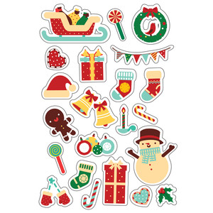 ml sweet christmas stickers