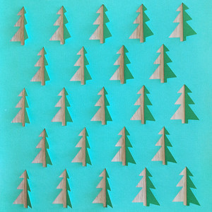 cut and fold christmas trees background