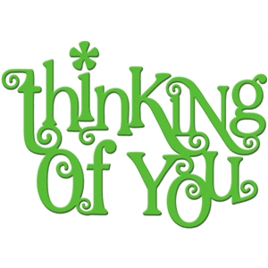 'thinking of you' word art