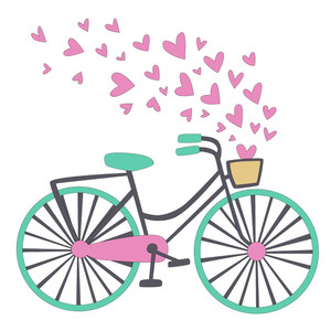 bicycle with hearts valentine