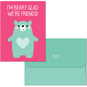 valentine print and cut bear