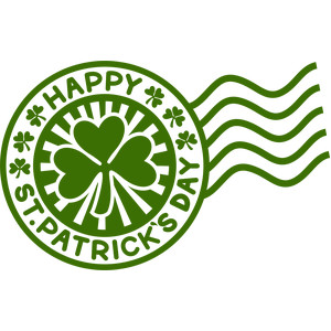 happy st patricks day stamp