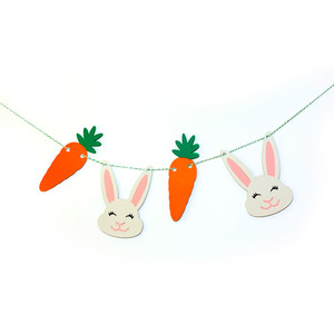 bunny and carrot banners