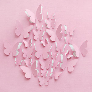 cut and fold butterflies cluster