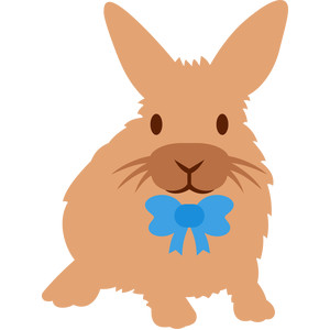 easter rabbit with bow tie