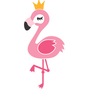 flamingo and crown
