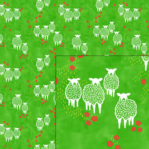sheep in the meadow pattern